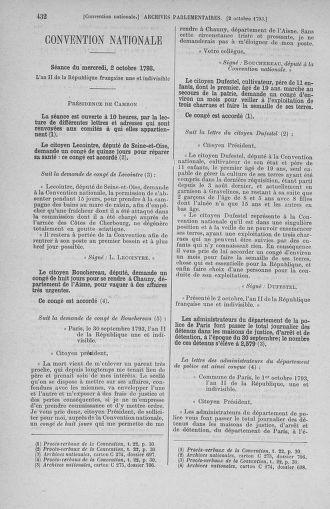 Tome 75 : Du 23 septembre au 3 octobre 1793 - page 432