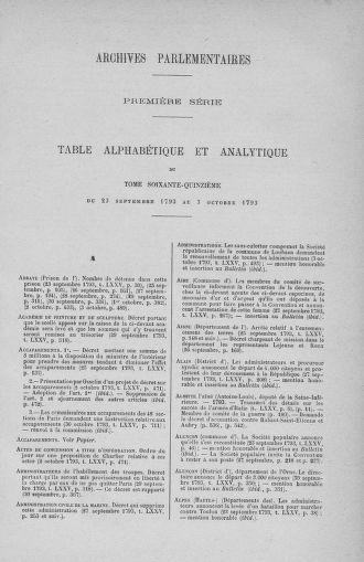 Tome 75 : Du 23 septembre au 3 octobre 1793 - page ..