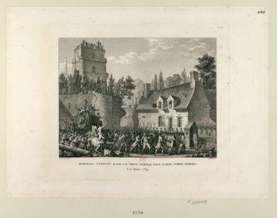 Besenval conduit dans un vieux chateau fort à Brie Comte-Robert le 10 aoust 1789 : [estampe]