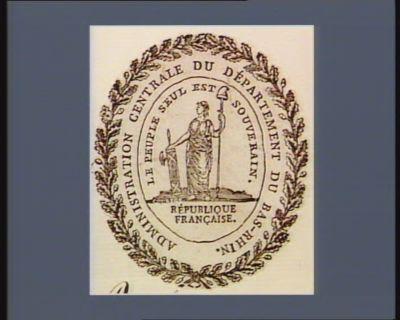 Administration centrale du département du Bas-Rhin le peuple seul est souverain : République française : [estampe]