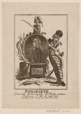Bonaparte. Generale della'rmata d'Italia nativo corsicano d'etta 25 anni 1797 [estampe]