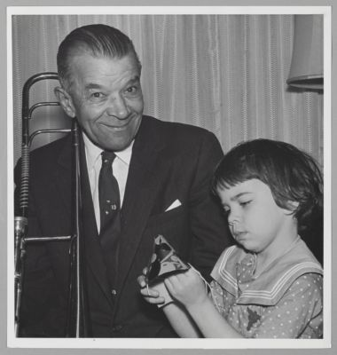 Kid Ory with his daughter (Babette) at his residence in San Anselmo