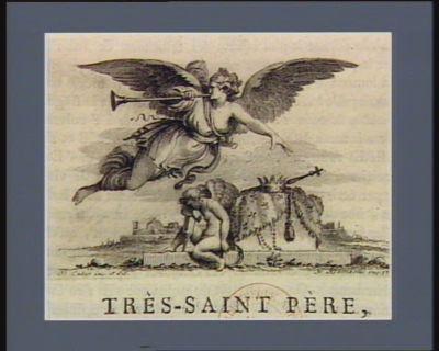 [Figure allégorique de la Renommée auprès des symboles de la royauté française déchue] [estampe]