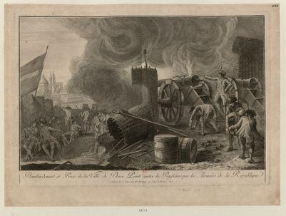 Bombardement et prise de la ville de Deux-Ponts contre les Prussiens par les armées de la Republique [estampe]