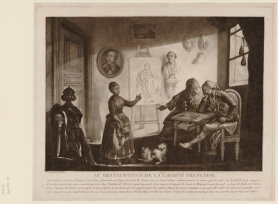 Au restaurateur de la liberté française dans un de ces momens d'orage, où un peintre gémissant sur le peu d'activité des beaux-arts... : [estampe]