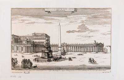 Veduta di una parte del Teatro Vaticano verso levante