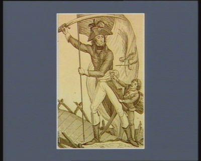 Augereau, né à Paris le 21 8.bre 1757 ce général relève l'etendard, et le plante à la tête du pont d'Arcolle : [estampe]