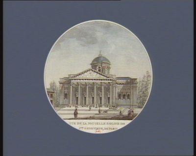 Vue de la nouvelle eglise de Ste Genevieve, de Paris construite sur les desseins de feu M. Soufflot... : [estampe]