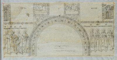 Chiesa di S. Giovanni in Laterano. Oratorio di S. Venanzio, mosaici del sec. VII