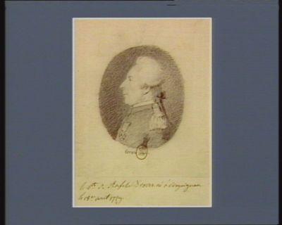 Le  V.te de Rafelis-Broues né <em>à</em> Draguignan le 18.e avril 1729 : [dessin]