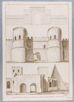 Porta Ostiense, prospetti architettonici generali