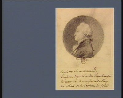 Louis Mathieu Armand d'Usson député de la sénéchaussée de Pamier, commissaire du Roy aux Etats de la province de Foix : [dessin]
