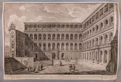 Palazzo Vaticano. Cortile di S. Damaso