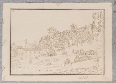 Basilica di Costantino, vista di scorcio da S. Maria Nuova