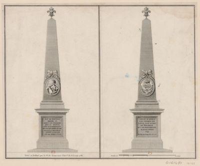 Icy se reposa Henri IV sous un poirier appelé hente par les habitans de ce pays après avoir gagné la bataille d'Ivry donnée le 14 mars 1690 Erigé d'après les ordres de Louis Jean Marie de Bourbon duc de Penthievre baron d'Ivry. 1777 : par Martin Goupy dir. de ses b. : [estampe]