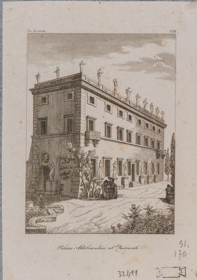 Palazzo Aldovrandini. Prospetto visto di scorcio