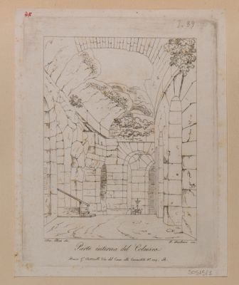 Colosseo, interno di un ambulacro