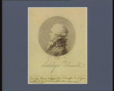 Anne Louis François de Paule Lefevre d'Ormesson de Noyseau député de la noblesse de la prevoté et vicomté de <em>Paris</em> extra muros : [dessin]