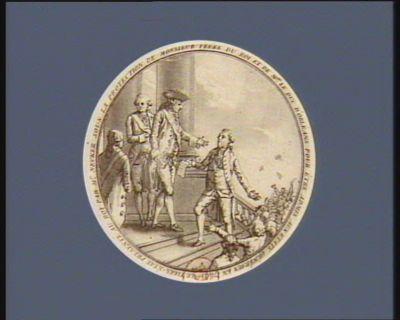 Le  Tiers-état présenté au roi par Mr Necker sous la protection de Monsieur frère du roi et de Mgr le Duc d'Orléans pour être admis aux Etats généraux en 1789 [estampe]