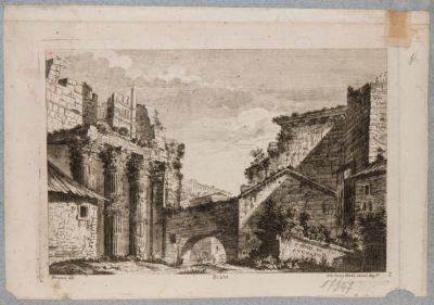 Foro d'Augusto, colonne del tempio di Marte e arco dei Pantani