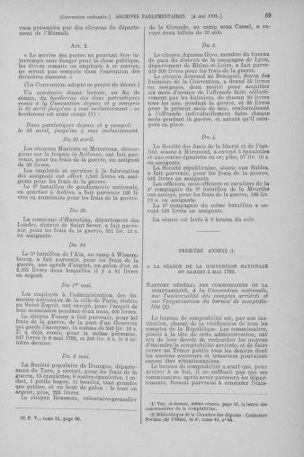 Tome 64 : Du 2 au 16 mai 1793 - page 69