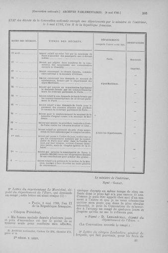 Tome 64 : Du 2 au 16 mai 1793 - page 305