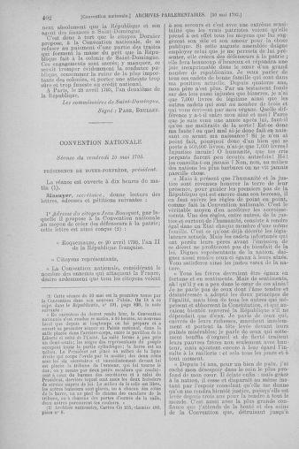 Tome 64 : Du 2 au 16 mai 1793 - page 402