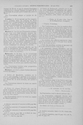 Tome 64 : Du 2 au 16 mai 1793 - page 435