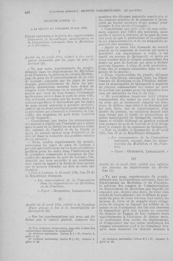 Tome 64 : Du 2 au 16 mai 1793 - page 448