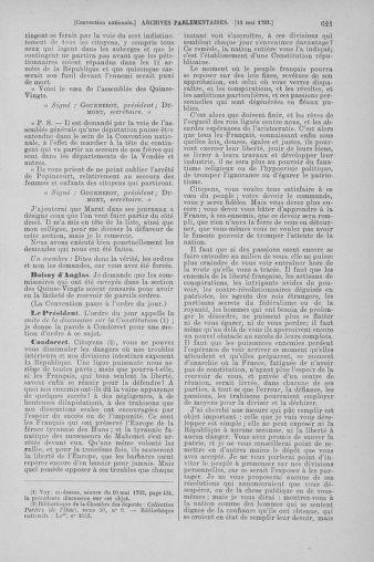 Tome 64 : Du 2 au 16 mai 1793 - page 621