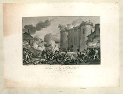 Prise de la Bastille, le 14 juillet 1789 [estampe]