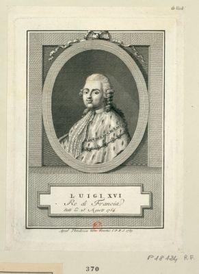 Luigi XVI Re di Francia nato li 23 agosto 1754 : [estampe]