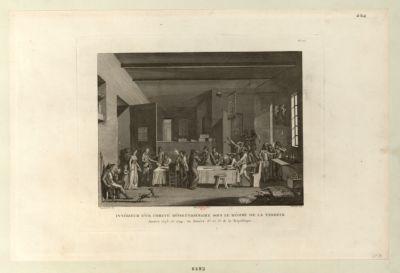 Intérieur d'un Comité révolutionnaire sous le régime de la Terreur années 1793 et 1794, ou années 2.<em>e</em> et 3.<em>e</em> de la République : [estampe]