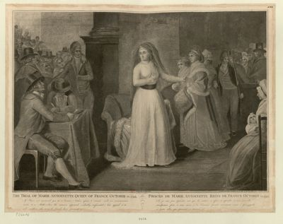 <em>The</em>  Trial <em>of</em> Marie Antoinette Queen <em>of</em> France <em>October</em> 14, 1793 If I have not answered you it is because Nature refuses <em>to</em> answer such an incrimination made <em>to</em> a mother... : [estampe]