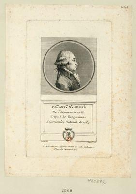Fr.ois Ant.ne N.as Jersé : ne à Haguenau en 1754 député de Sarguemines à l'Assemblée nationale de 1789 : [estampe]