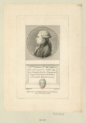 F.nand Denis C.te de Creci né à Besançon le 6 juillet 1744 an. l.t colonel du reg.t de R.al Guyenne cav.rie député de la sénéch. de Ponthieu à l'Assemblée nationale de 1789 : [estampe]