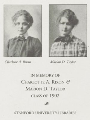Charlotte A. Rixon and Marion D. Taylor Memorial Fund