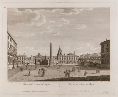 Piazza del Popolo, veduta verso settentrione
