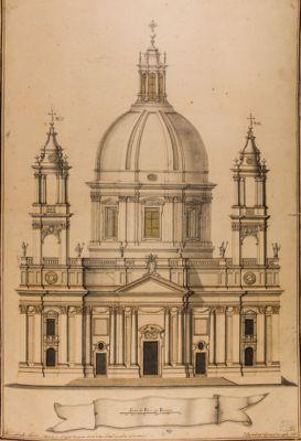Prospetto della chiesa di S. Agnese in piazza Navona