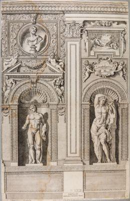 Palazzo Farnese. Galleria, particolare del lato sinistro