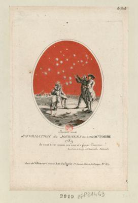 Allusion aux information des journées du 5 et 6 octobre 1789 ils vont être connus ces secrets pleins d'horreur... ! Boucher d'Argis a l'Assemblee nationale : [estampe]