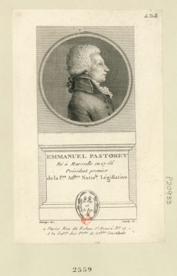 Emmanuel Pastoret né à Marseille en 1756 président premier de la p.re Ass.blée natio.le législative : [estampe]