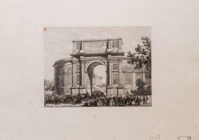 Ponte Milvio, Arco commemorativo eretto sul piazzale
