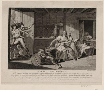 Trait de courage héroïque des brigands de la Vendée, s'étant rendus maîtres de Saint-Mithier... : [estampe]