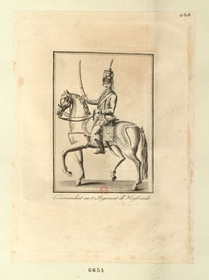 Commandant au 1.er regiment de hussards [estampe]