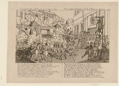 La  nuit terrible à Paris le 10 d'Aout, 1792 La nuit effroyable s'approche... : [estampe]