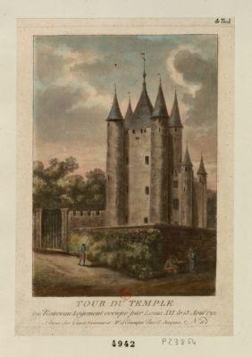 Tour du Temple ou nouveau logement occupé par Louis XVI le 13 août 1792 : [estampe]