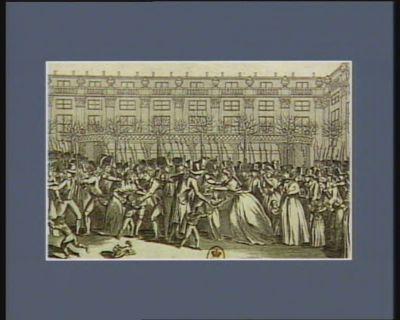 Siège du Palais d'Egalité le 27 janvier 1793 par ordre du Comité de sûreté générale à huit heures du soir on bloqua le Palais d'Egalité avec 4 mille hommes... : [estampe]