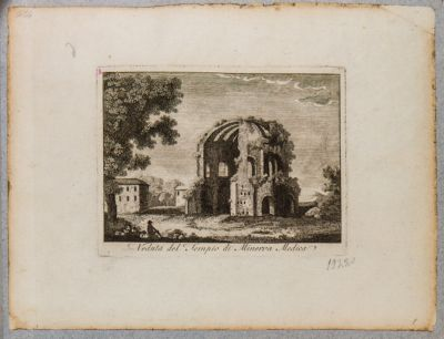 Veduta del tempio di Minerva Medica