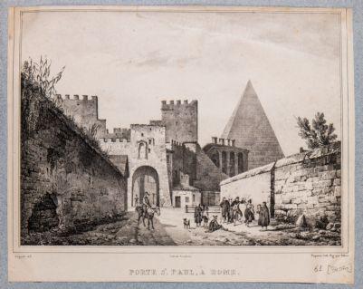 Porta Ostiense, veduta dall'interno della città